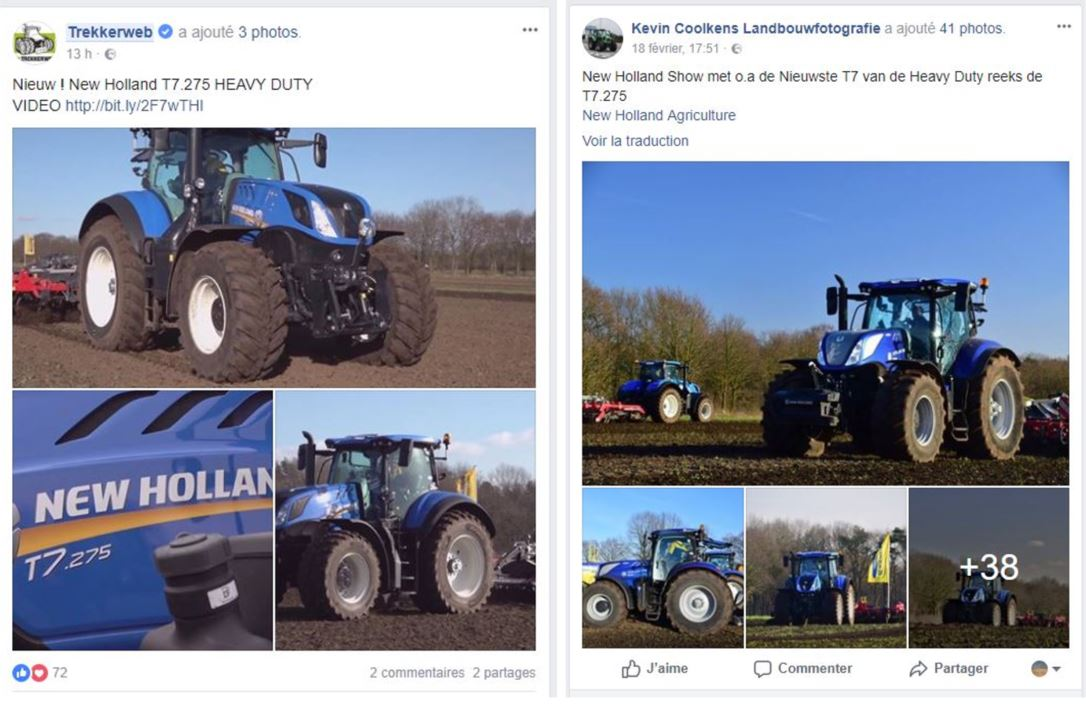 New Holland T7 HD Facebook Réussir machinisme